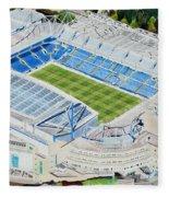 Stamford Bridge Stadia Art - Chelsea Fc Fleece Blanket
