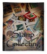 Stamp Colleting Fleece Blanket
