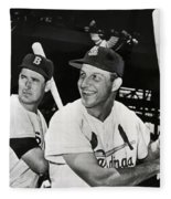 Stan Musial And Ted Williams Fleece Blanket