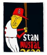 Stan Musial St Louis Cardinals Fleece Blanket