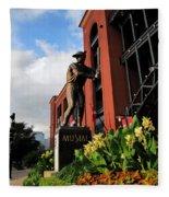Stan Musial Statue Fleece Blanket