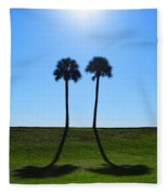Stand By Me - Palm Tree Art By Sharon Cummings Fleece Blanket