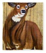Standing Buck Fleece Blanket