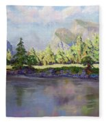 Standing Guard Over Yosemite Valley Fleece Blanket