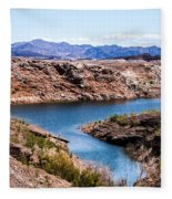 Standing In A Ravine At Lake Mead Fleece Blanket