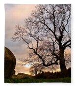 Standing Stones, England Fleece Blanket