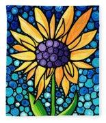 Standing Tall - Sunflower Art By Sharon Cummings Fleece Blanket