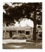 Stanifords Drug Store Ocean Ave.cor San Carlos Carmel Circa 1941 Fleece Blanket