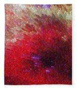 Star Burst - Red Abstract Art By Sharon Cummings Fleece Blanket