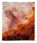 Star Dust Angel - Desert Fleece Blanket
