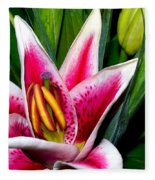 Star Gazer Lily Fleece Blanket