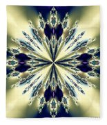 Star Jewel Fractal Fleece Blanket