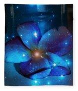 Star Light Plumeria Fleece Blanket