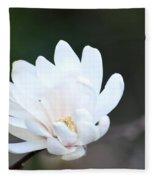 Star Magnolia Bloom Fleece Blanket