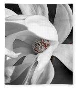 Star Magnolia Flower Fleece Blanket