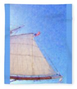 Star Of India. Flag And Sail Fleece Blanket