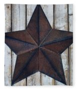 Star On Barn Wall Fleece Blanket