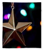 Star Ornament Fleece Blanket