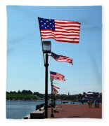 Star Spangled Banner Flags In Baltimore Fleece Blanket