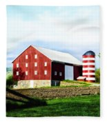 Star Spangled Farm Fleece Blanket