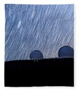 Star Trails Above Keck Fleece Blanket