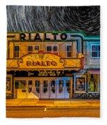 Star Trails Over The Rialto Fleece Blanket