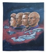 Star Trek Tribute Captains Fleece Blanket
