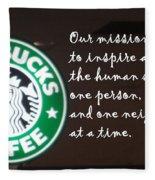 Starbucks Mission Fleece Blanket