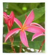 Starburst Plumeria Fleece Blanket