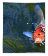 Stare Down With A Koi Fleece Blanket