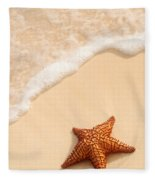 Starfish And Ocean Wave Fleece Blanket
