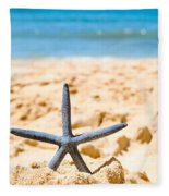 Starfish On Algarve Beach Portugal Fleece Blanket