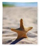 Starfish On The Beach Fleece Blanket