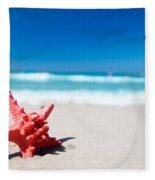 Starfish On Tropical Beach Fleece Blanket