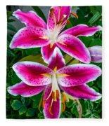Stargazer Oriental Lilies Fleece Blanket