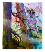 Starr Lynn Holly Berry Fairy Fleece Blanket