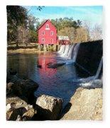 Starr's Mill In Senioa Georgia 2 Fleece Blanket