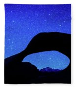 Starry Arch At Mobius Arch, Alabama Fleece Blanket