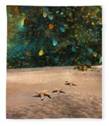 Starry Beach Night Fleece Blanket