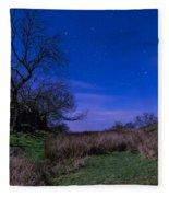 Starry Night Above Hadrians Wall Fleece Blanket