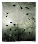 Starry Night Reflections Fleece Blanket