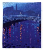 Starry Night In Dublin Fleece Blanket