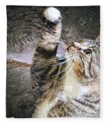 Starry Night Kitty Style - Featured  In Comfortable Art Group Fleece Blanket