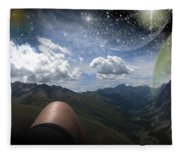 Stars And Planets In A Valley Fleece Blanket