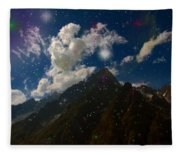 Stars And Planets On Mont Blanc Fleece Blanket