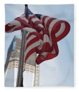 Stars And Stripes And 1 W T  C Fleece Blanket