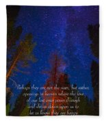 Stars Light Star Bright Fine Art Photography Prints And Inspirational Note Cards Fleece Blanket