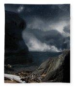 Stars Over Salt Water Fleece Blanket