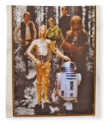 Stars Wars Autographed Movie Poster Fleece Blanket