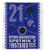 Starschips 21- Poststamp - Sputnik 2 Fleece Blanket